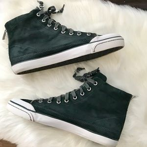 Coach Fatima Suede Lace Up Zipper Ankle Sneakers